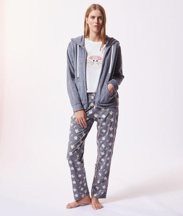 """Pyjama 3 pièces """"Shhh"""", veste polaire;${refinementColor}"""