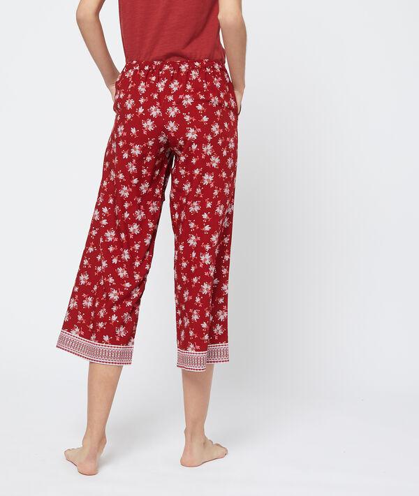 Pantalon capri imprimé bas évasé