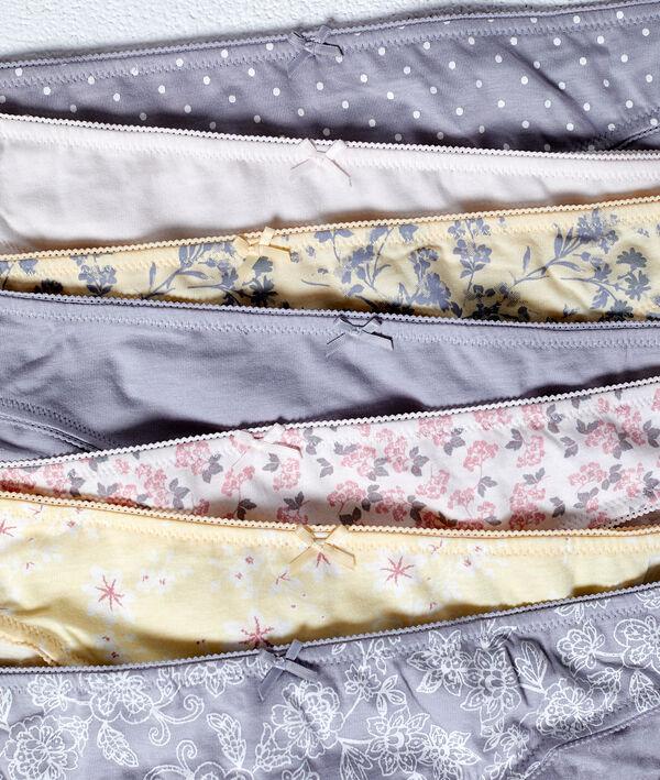 Pack de 7 culottes en coton