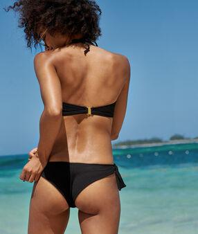Bas de bikini brésilien - high leg noir.