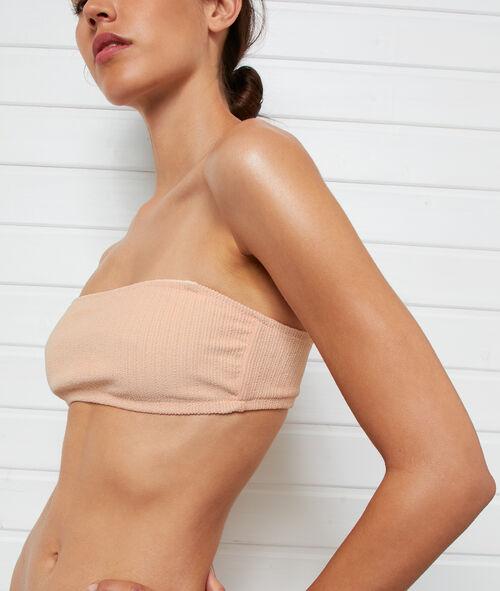 Haut de maillot de bain bandeau côtelé