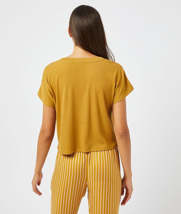 T-shirt côtelé;${refinementColor}