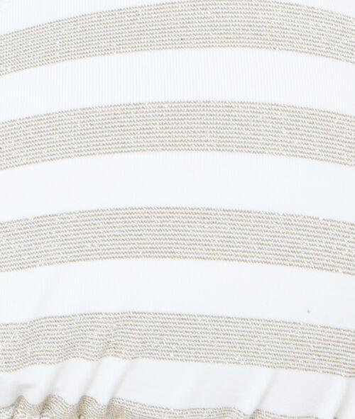 Haut de maillot de bain triangle rayé, bandes en fibres métallisées , pads amovibles