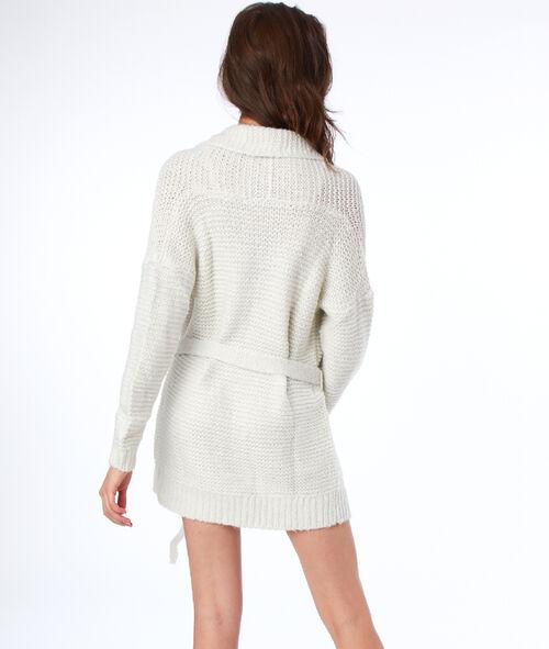 Veste homewear détails fil métallisé