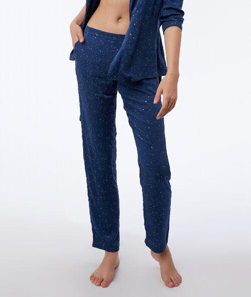 Pantalon à motif étoilé