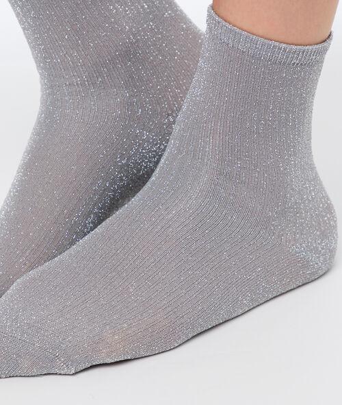 Chaussettes courtes métallisées