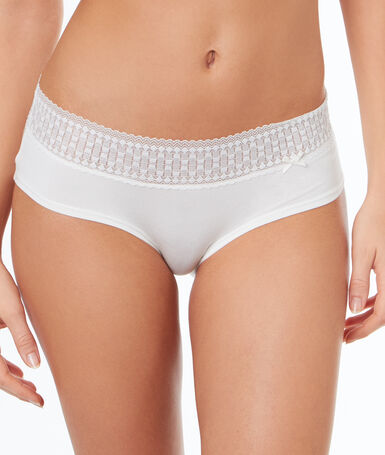 Shorty en modal doux blanc.