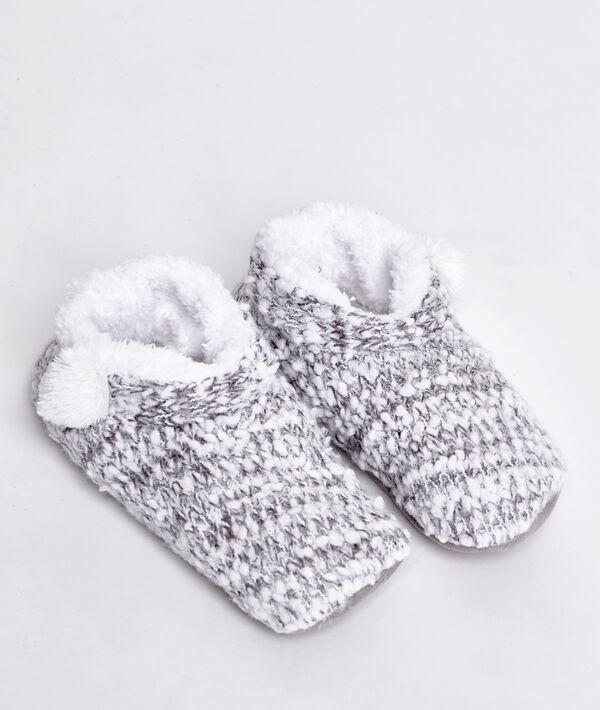 Chaussons fourrés façon tricot