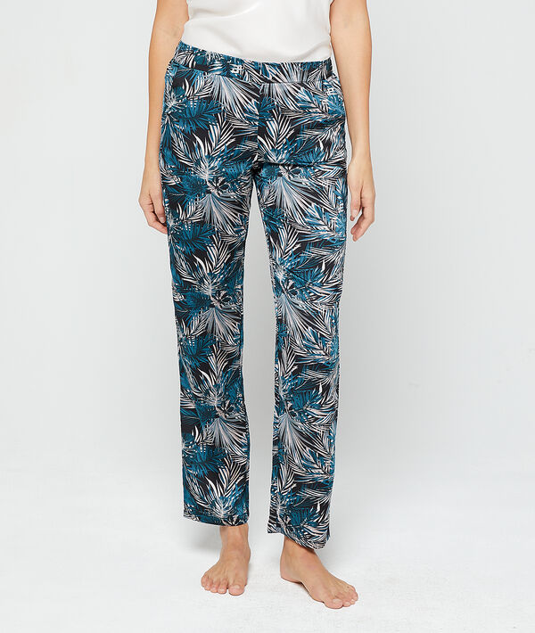 Pantalon imprimé feuillage