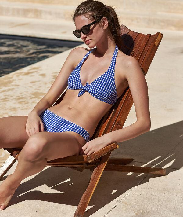 Bas de bikini imprimé vichy;${refinementColor}