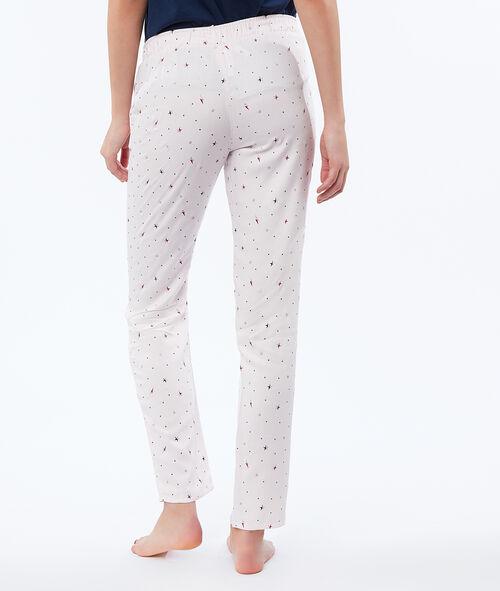 Pantalon à imprimé étoiles