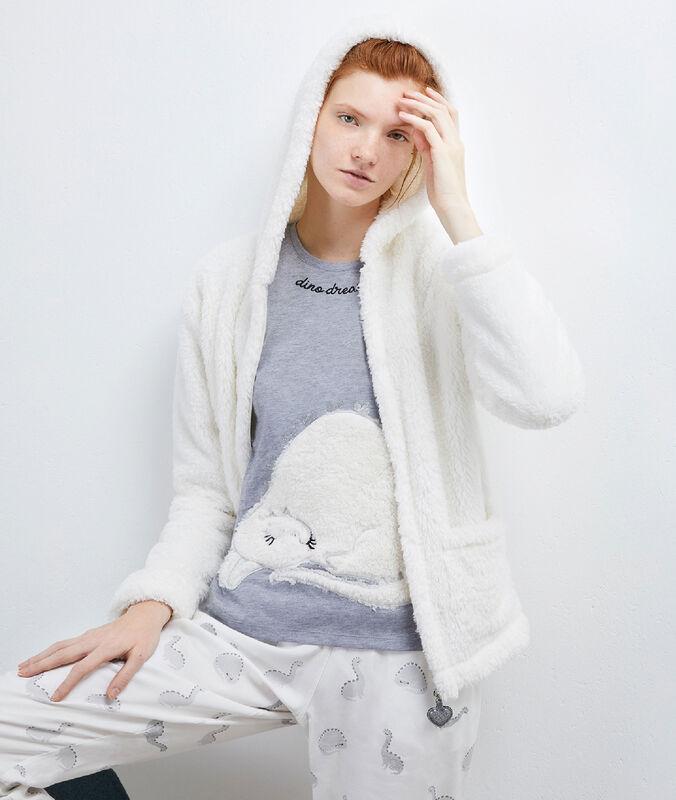 Pyjama 3 pièces veste doudou white.