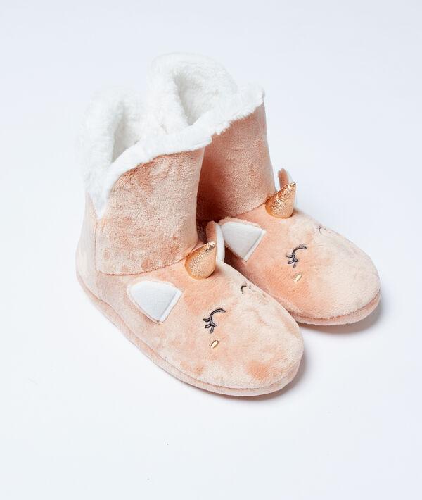 Chaussons bottines fourrées