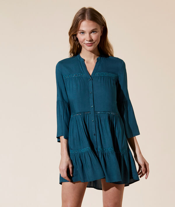 Tunique détails guipure - MOLLY - L - Vert - Femme - Etam