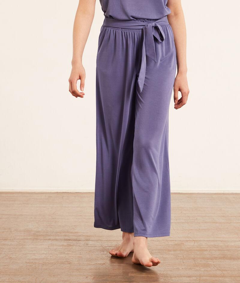 Pantalon de pyjama uni;${refinementColor}