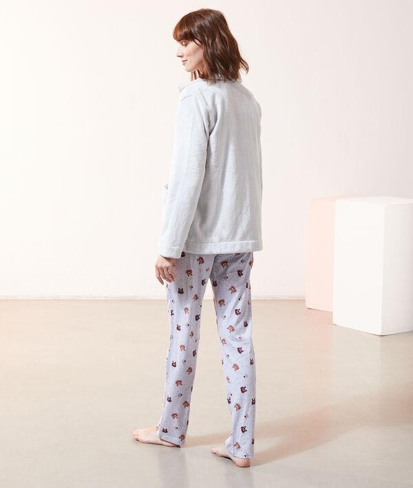 """Pyjama 3 pièces """" I love boys who love cats"""", veste polaire;${refinementColor}"""