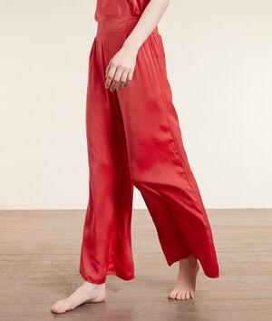 Pantalon de pyjama satiné;${refinementColor}