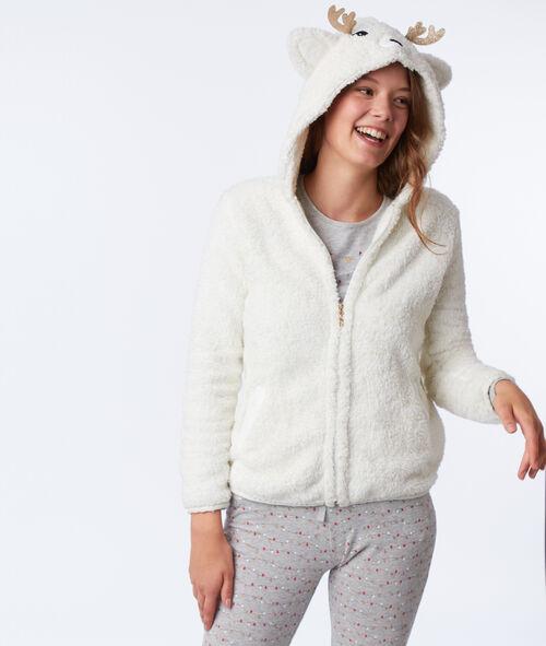 Veste de pyjama cerf en fausse fourrure