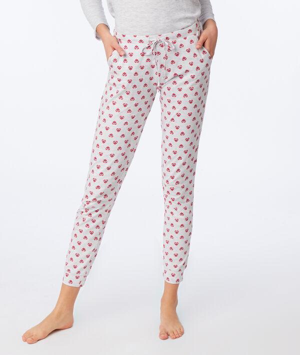 Pantalon imprimé cœur