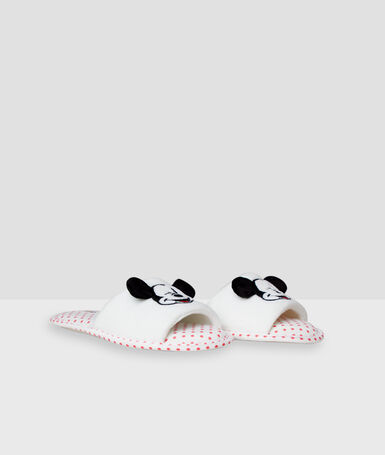 Chaussons mickey blanc.