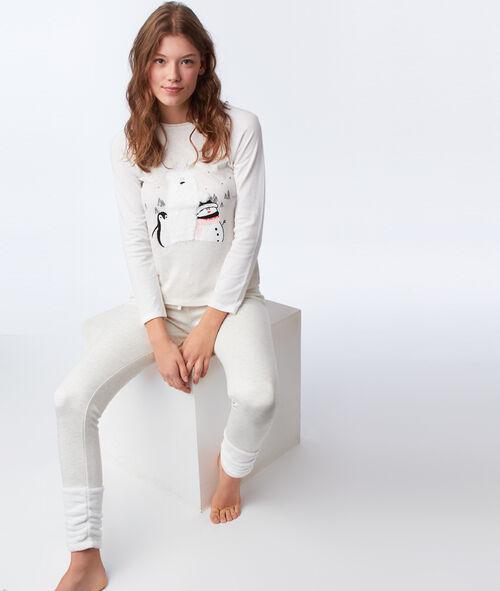 T-shirt avec détails en fausse fourrure