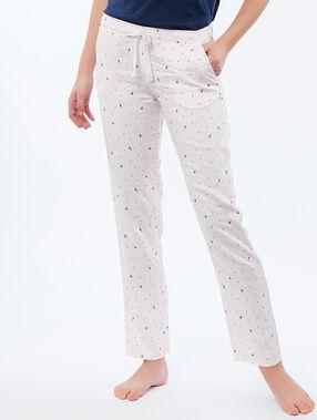 Pantalon à imprimé étoiles rose.