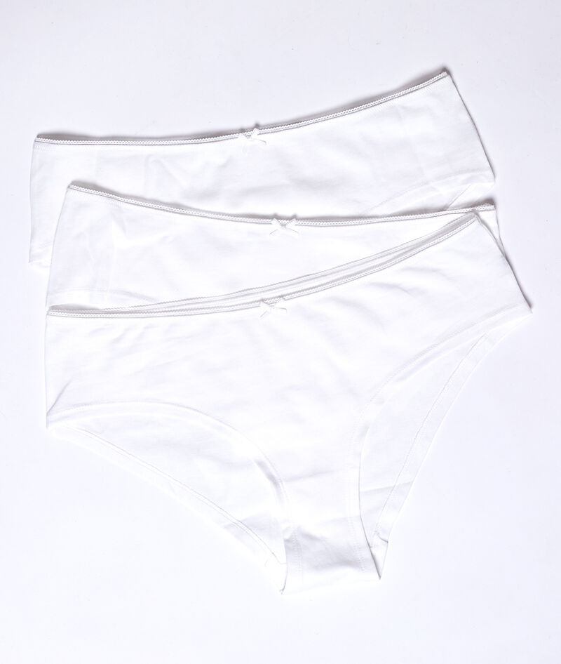 LOT DE 3 SHORTYS EN COTON BIOLOGIQUE