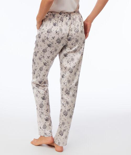 Pyjama 3 pièces satiné veste polaire