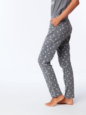 Pantalon imprimé licornes anthracite.