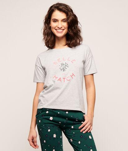 """T-shirt imprimé """"Belle de match"""";${refinementColor}"""