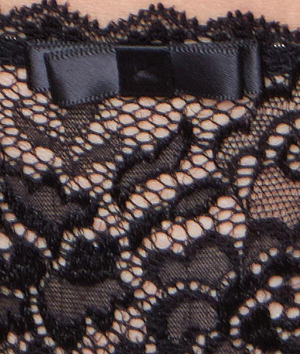 Culotte dentelle florale et satinée