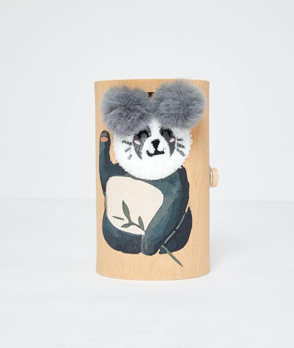 Chaussettes homewear panda;${refinementColor}