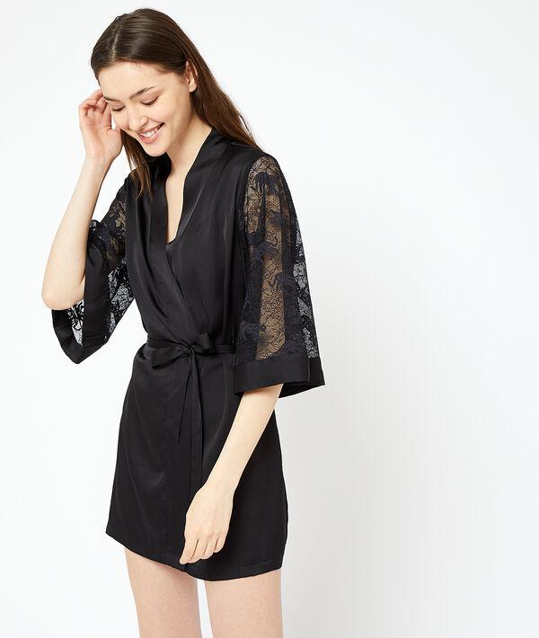 Kimono manches dentelle