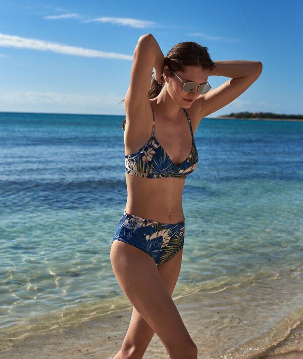 Bas de bikini multiposition, imprimé tropical