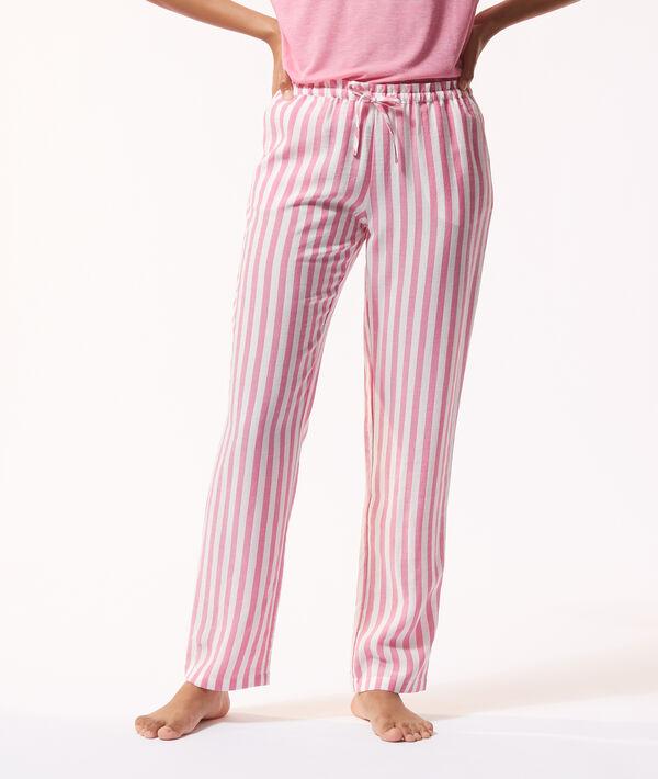 Pantalon de pyjama rayé;${refinementColor}