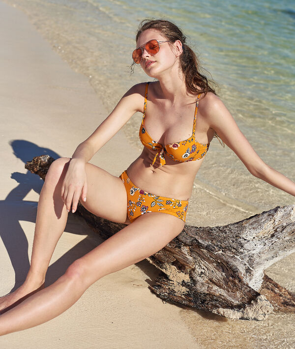 Bas de bikini shorty, imprimé fleurs
