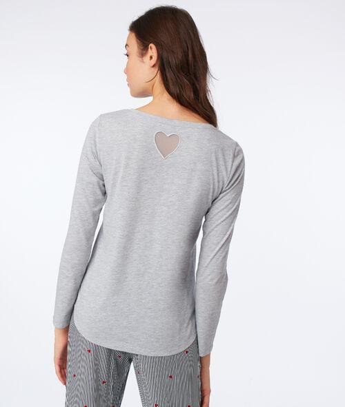 "T-shirt ""Kiss me if you can"" dos cœur"