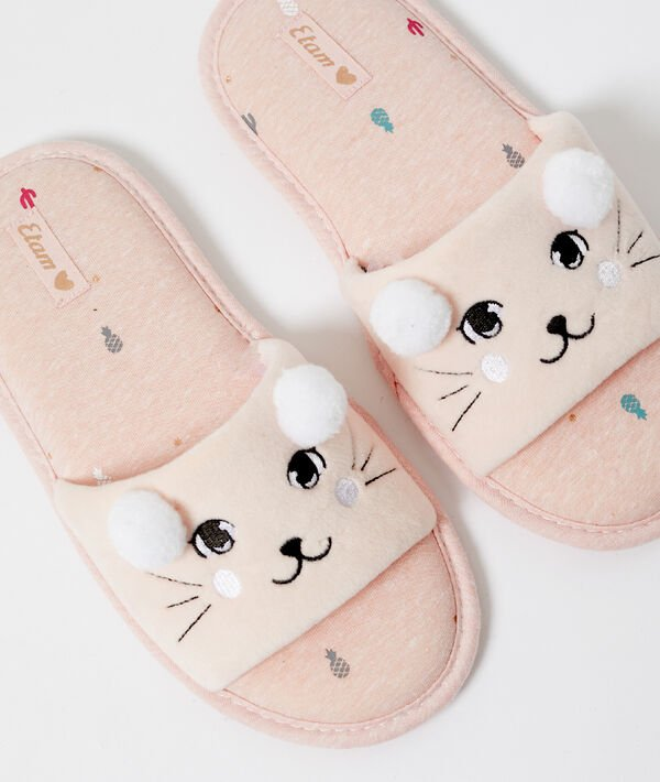 Chaussons chat ouverts