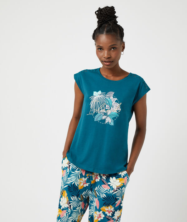 """T-shirt imprimé """"Island"""";${refinementColor}"""