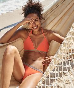 Bas de bikini simple corail.