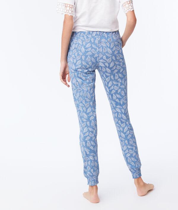 Pantalon noué imprimé floral