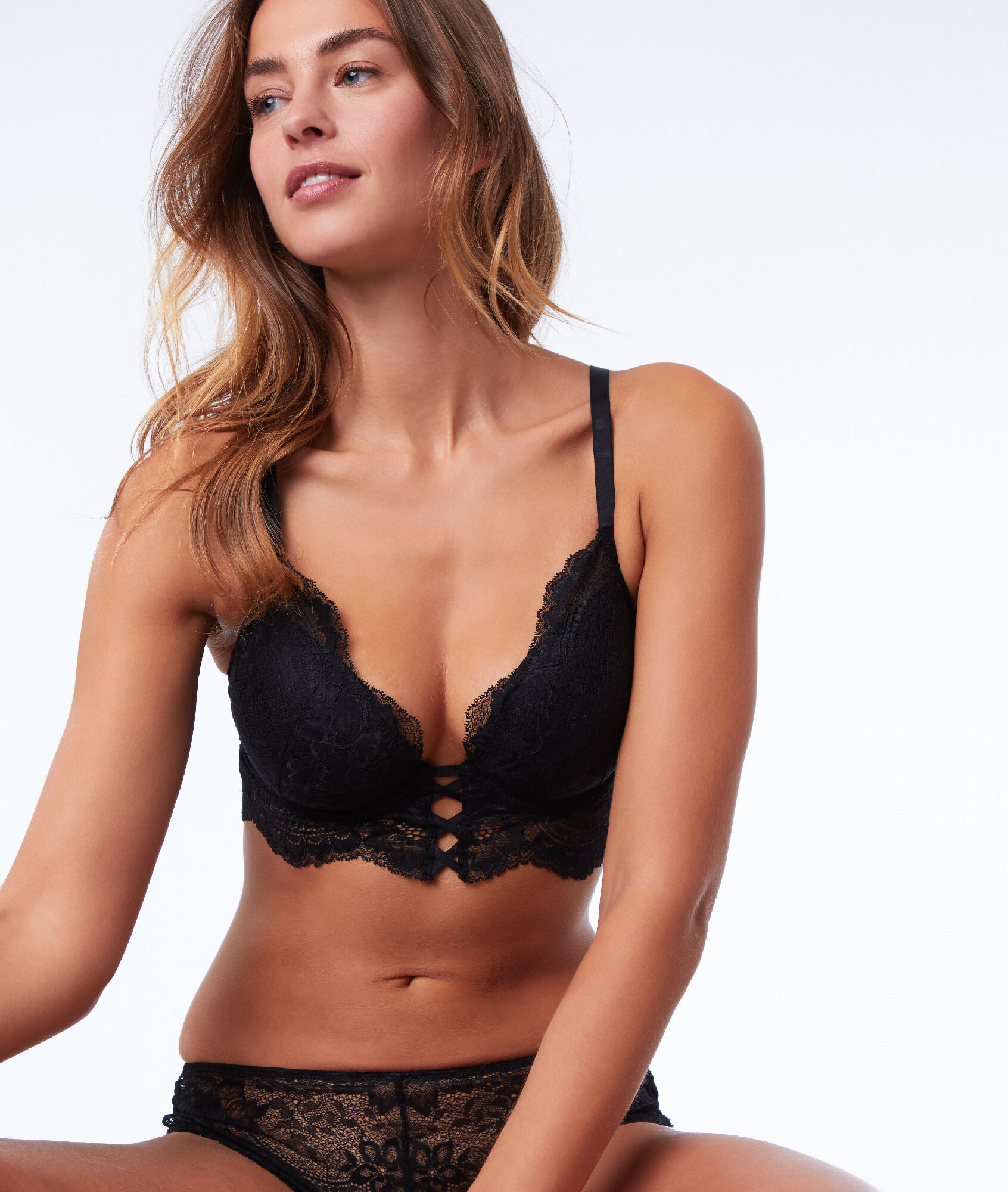 Soutien-gorge N°5 - Ampliforme naturel façon corset - INK - NOIR - Etam b771c7db999