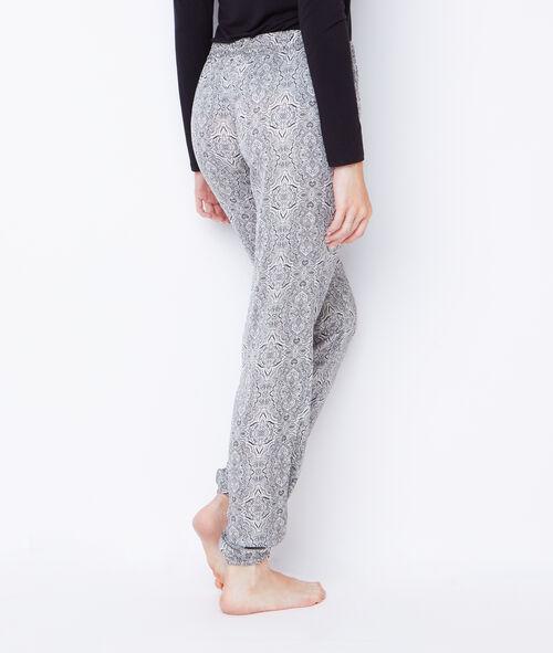 Pyjama trois pièces, déshabillé intérieur fourré