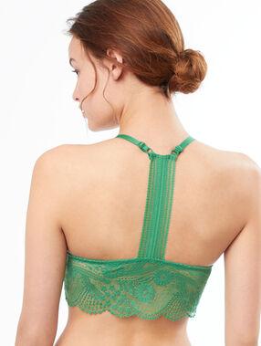 Triangle en dentelle, basque vert nil.