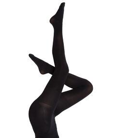 Collants 60d opaques, effet galbant fesses noir.