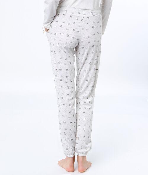 Pantalon imprimé panda licorne