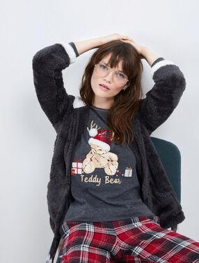 Pyjama 3 pièces teddy bear anthracite.