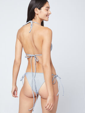Haut de maillot de bain triangle, matiéré marine.