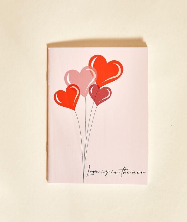 "Carnet de note ""Love is in the air"";${refinementColor}"