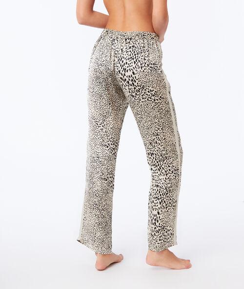 Pantalon large imprimé léopard